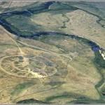 Древний город Аркаим с высоты птичьего полёта