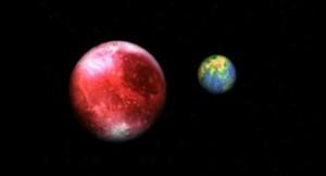 Нибиру видна на фоне Луны (7.02.2012)