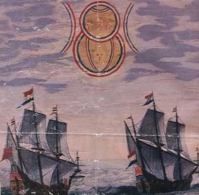 НЛО над голландскими кораблями - 1660 год.