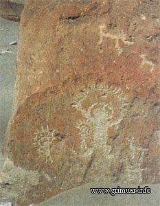 Наскальный рисунок. Перу, XII - IV век до н.э.