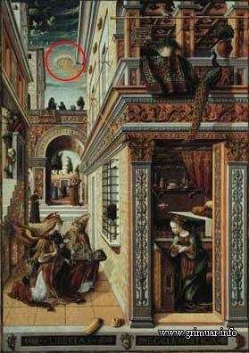 The Announciation - Картина Carlo Crivelli (1486г.), выставлена в Национальной Галерее в Лондоне