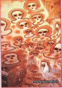 Наскальный рисунок из Австралии XII - IV век до н.э